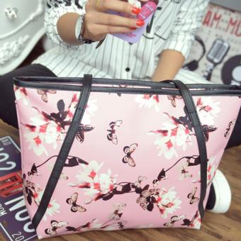 Amart Women PU Bags Flower Print Shoulder Bag Handbag Casual Tote Bags