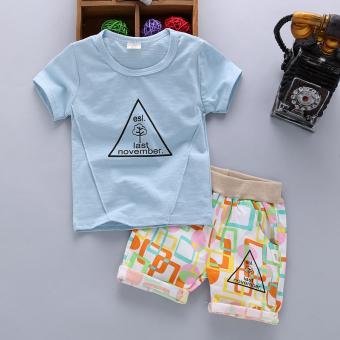 Kaus Baju Lengan Pendek Anak Laki-laki Celana Pendek Musim Panas