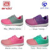 Ando CT 03 Sepatu Olahraga Sepatu Lari Wanita Warna Hijau Tosca Pink - 2