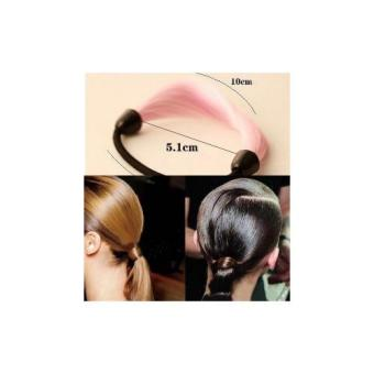 Anneui - Color Straight Hairband Karet Rambut Model Rambut Warna - Pink