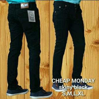 harga AnR Celana Panjang Jeans Skinny Pensil Cheap Monday - Hitam (Black) Lazada.co.id