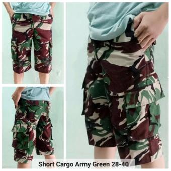Arc Celana Cargo Pendek Army Hijau - Green
