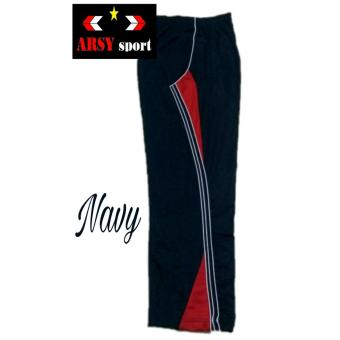 Arsy Sport Celana Training Model LIs 3 - Nevy Merah
