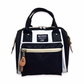 Atdiva Tas Ransel 3 Ways Bag Bisa Ransel Selempang dan Tothe - Black and white