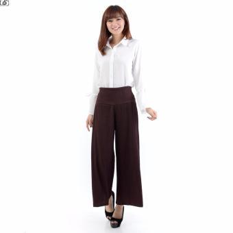 Ayako Fashion Cullote Long Pants Pixie - Celana Panjang Kulot Wanita Pixie - (Maroon)