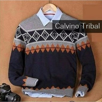 Azam Clobber - Sweater Pria Rajut - Calvino Tribal - Rajut Tribal