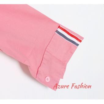 Azure Fashion JUSTIN TOP - PINK KEMEJA PRIA KEMEJA CASUAL KEMEJA LENGAN PANJANG .