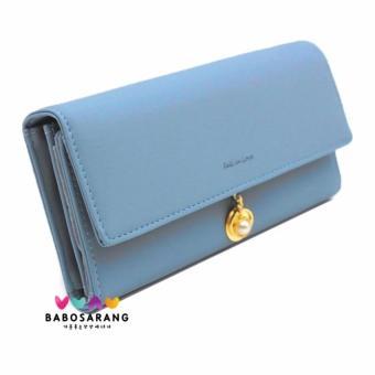 Babosarang Dompet Wanita Card Holder Korean Fashion Style Clutch Leather Long Wallet Purse Handbag Bag with