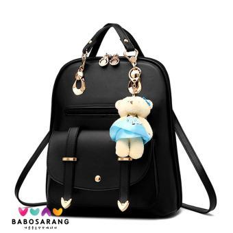 Korean Fashion Style Babosarang Tas Ransel Batam Wanita Backpack Multifungsi  Cewek Fashion Korea Gantungan Boneka Beruang 5632ae4341