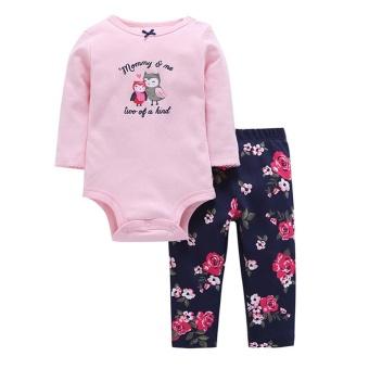 harga Baby Kids Newborn Girls Huruf Baju Monyet Jumpsuit + Celana Set Bunga Pakaian Suit-Intl Lazada.co.id