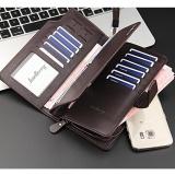 ... BAELLERRY Handphone Pria Panjang Dompet Kulit 21 Pemegang Kartu Zip Dompet Clutch-Intl - 3 ...