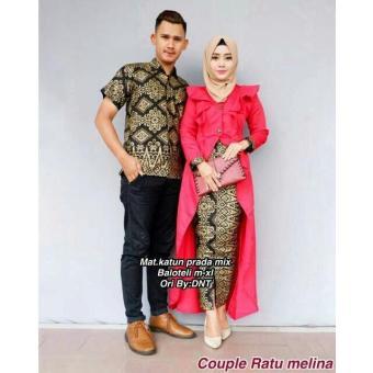 TERMURAH - Baju Batik Couple - Kebaya Couple Modern - Couple Batik - Batik Sarimbit -
