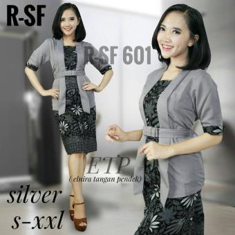 Baju batik kerja wanita Baju batik lengan pendek Kebaya modern Kebaya Rok Setelan  Kebaya wisuda 7d6d784855
