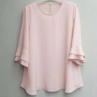 Baju Blus Jumbo Peach Wanita Ukuran 2L 3L 4L 5L / Atasan Blouse Big Size