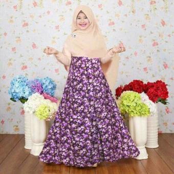 Fitur Paling Murah Baju Busana Muslim Gamis Salsa Couple Maroon Ibu ... 868a0c09b3