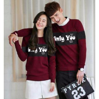 Baju Couple Lengan Panjang / Kaos pasangan / Kopel Only You