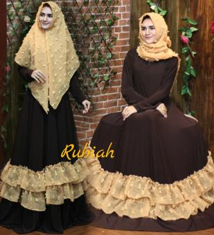 Fitur Zivanka Dress Exclusive Gamis Polos Jersey Rempel All Size