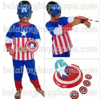 Baju Kostum Anak Topeng Superhero Captain America
