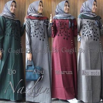 RaikheyShop - Baju Muslim Gamis Nazlan Dress Baloteli Panjang Hijab Casual Pakaian Wanita Hijab Modis
