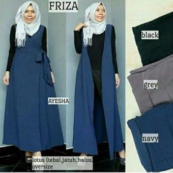 Baju Original Cardigan Friza Vest Cardie Outer Baju Muslim Wanita Casual Hijab Cardi Modern Trendy Warna