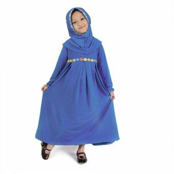 Baju Yuli Jasmine Biru JB01 Baju Gamis Anak Perempuan Lucu
