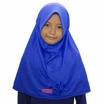 Bajuyuli - Kerudung Jilbab Anak Murah Polos Pita Cantik Biru Benhur