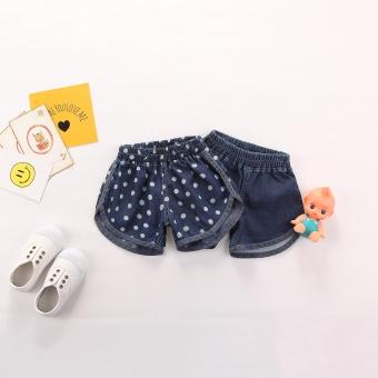 harga Baobao kapas baru musim semi dan musim panas bayi Celana Pendek Denim (Bagian tipis dot) Lazada.co.id