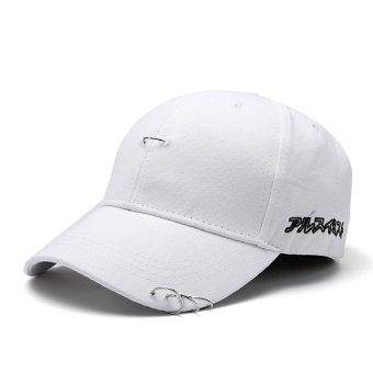 Baru Pria Wanita Hat Ring Hip Hop Melengkung Strapback Baseball Snapback  CAP Adjustable Putih-Intl bbea68fbd4