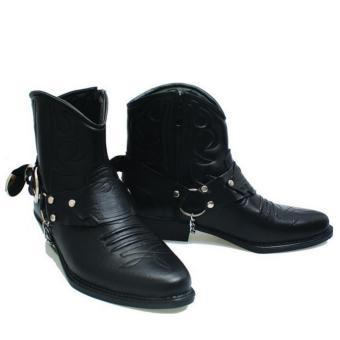 Basama Soga Sepatu Boots Pria 763- Hitam