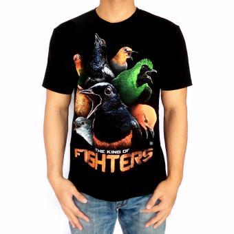 Bawara Kaos Burung Kicau King Of Fighter - Hitam