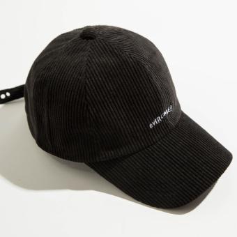 Beberapa corduroy perempuan baru cincin topi Korea Fashion Style bisbol topi (Kecil surat corduroy topi