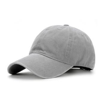 Beberapa Korea Fashion Style dicuci melengkung topi topi bisbol topi topi  (Abu-abu) 776ad3123d