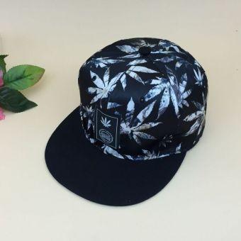 Beberapa Korea Fashion Style perempuan hip-hop hip-hop topi topi (Daun putih