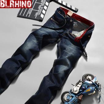 Beilexiniu Jeans Pria Celana Panjang Korea Fashion Style Koboi Remaja (2029 model)