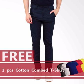 BKSPC Celana Chino/ Chino Pants Skinny Fit - Biru Dongker (Navy Blue)