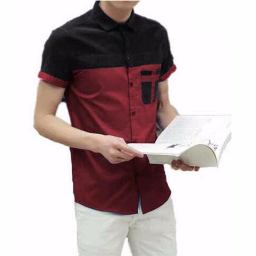 Bosbaju Kemeja Pria Luke Lengan Pendek Maroon Daftar Harga Terbaru Lerby Hitam Hot Deals Terbaik Murah