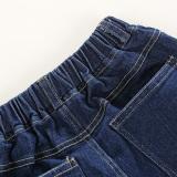 ... Pakaian Anak Laki-laki Set Kaos + Pants Bang Pendek (Biru Laut) ...