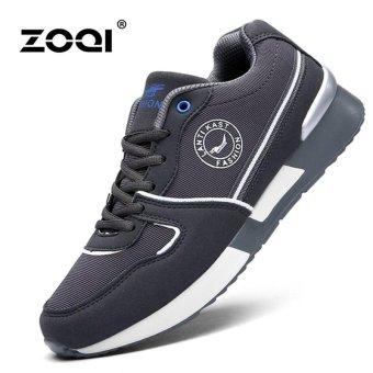 Bernapas Olahraga Sepatu ZOQI Pria Fashion Sepatu Kasual Menjalankan Sepatu  (abu-abu) f58d4e667b