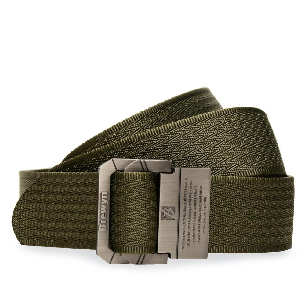 Discount BREWYN Double Metal Buckle Mens Canvas Military Belt /Ikat pinggang pria / Sabuk /