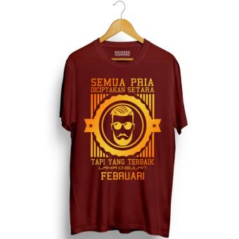 Brother Store Kaos Distro Pria Terbaik Lahir Februari Gold Premium