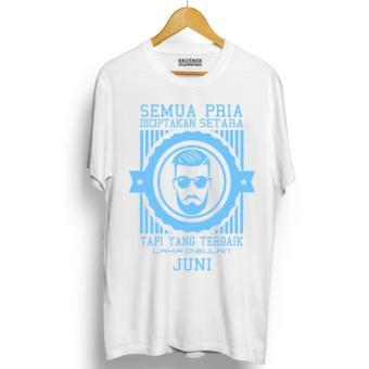 Brother Store Kaos Distro Pria Terbaik Lahir JUNI Light Blue Premium