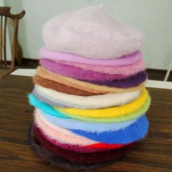 Bud manis bulu kelinci kualitas ultra-tinggi pelukis topi baret topi (Hitam) 719768b017