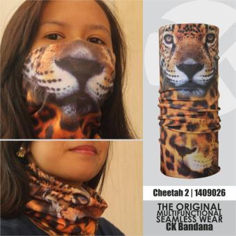 Buff CK Bandana 1409026 Masker Multifungsi Motif Cheetah 2