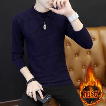 Kerah bulat sweater pakaian pria Gaya Korea model Musim Semi dan Musim  Gugur kaos lengan panjang c89e7c39f3