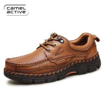 Camel Active Sepatu Pria Kulit Lapisan Pertama Sepatu Santai Kulit Musim  Panas ce7c1dcf23
