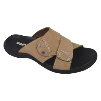 Catenzo Sandal Kulit Pria KN 303 - Cream