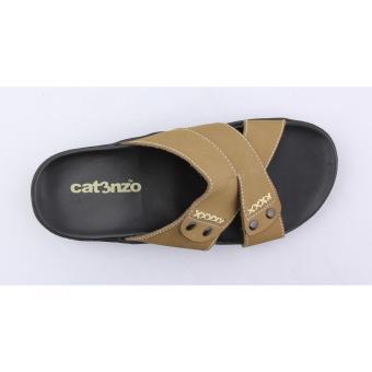 Bandingkan Toko Catenzo Sandal Kulit Asli KN 303 - Cream harga baru - Hanya Rp154.