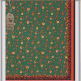 ... Cek Batik - Kain Batik Motif Manis Bunga dan Daun (Hijau) - 4