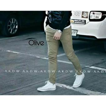 celana chino panjang pants (OLIVE)