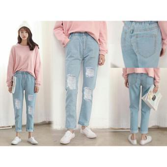 Celana Fashion Wanita - VS Jeans Boyfie Misel Light Blue